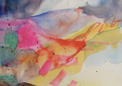 watercolor wander painting 2020 24 by New Mexico artist Dawn Chandler