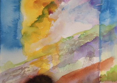 Daily watercolor warm-up painting 2020 25 by New Mexico artist Dawn Chandler