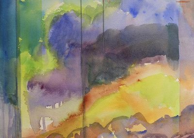 Daily watercolor warm-up painting 2020 27 by New Mexico artist Dawn Chandler