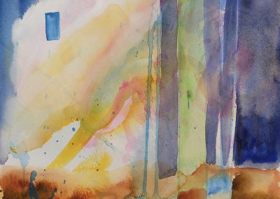 Daily watercolor warm-up painting 2020 28 by New Mexico artist Dawn Chandler