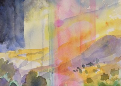 Daily watercolor warm-up painting 2020 29 by New Mexico artist Dawn Chandler