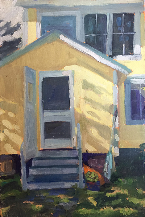 "Backdoor to the Kitchen, oil on canvas, 18"" x 12"" by Dawn Chandler"
