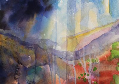Watercolor Wandering painting 2020 31 by New Mexico artist Dawn Chandler