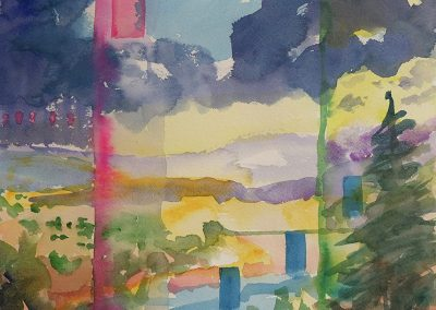 Watercolor Wandering painting 2020 33 by New Mexico artist Dawn Chandler