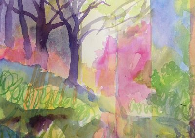 Watercolor Wandering painting 2020 34 by New Mexico artist Dawn Chandler