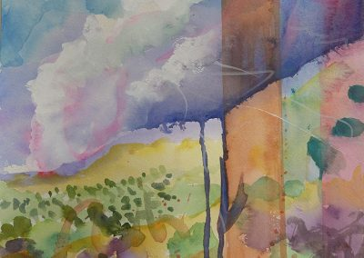 Watercolor Wandering painting 2020 35 by New Mexico artist Dawn Chandler