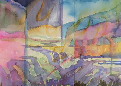 Watercolor Wandering painting 2020 40 by New Mexico artist Dawn Chandler