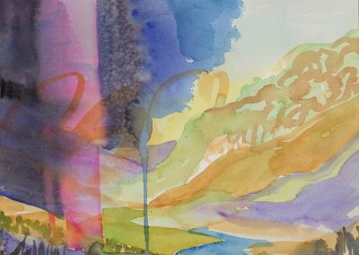 Watercolor Wandering painting 2020 42 by New Mexico artist Dawn Chandler