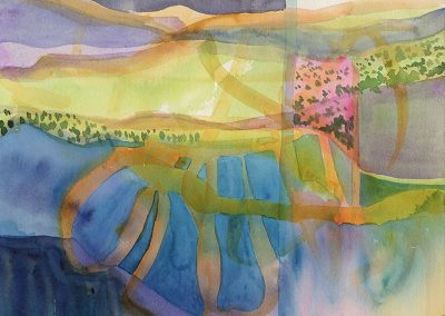 Watercolor Wandering painting 2020 43 by New Mexico artist Dawn Chandler