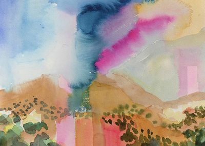 Watercolor Wandering painting 2020 45 by New Mexico artist Dawn Chandler