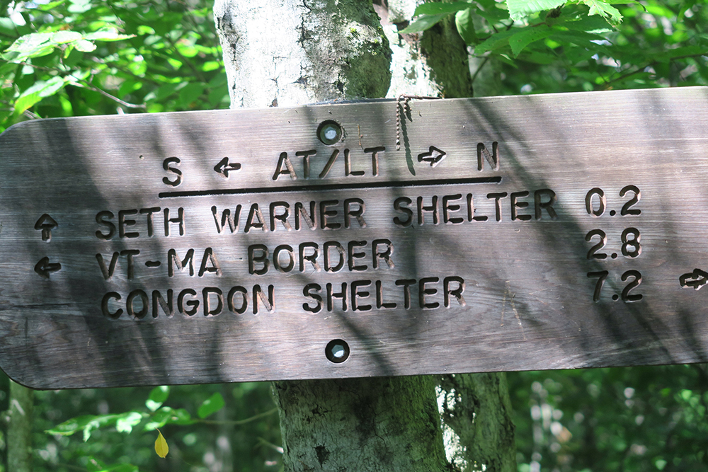 Sign for the Set Warner Shelter. Photo by Dawn Chandler.
