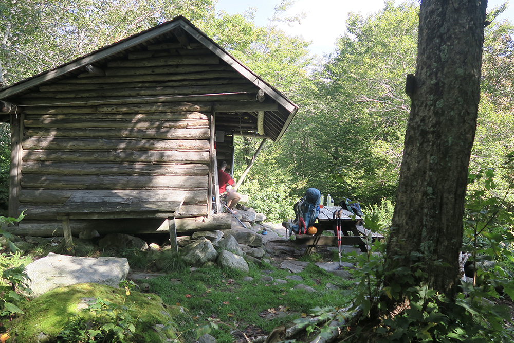 Kid Gore Shelter along the Long Trail in southern Vermont. Photo by artist and thru-hiker Dawn TaosDawn Chandler.
