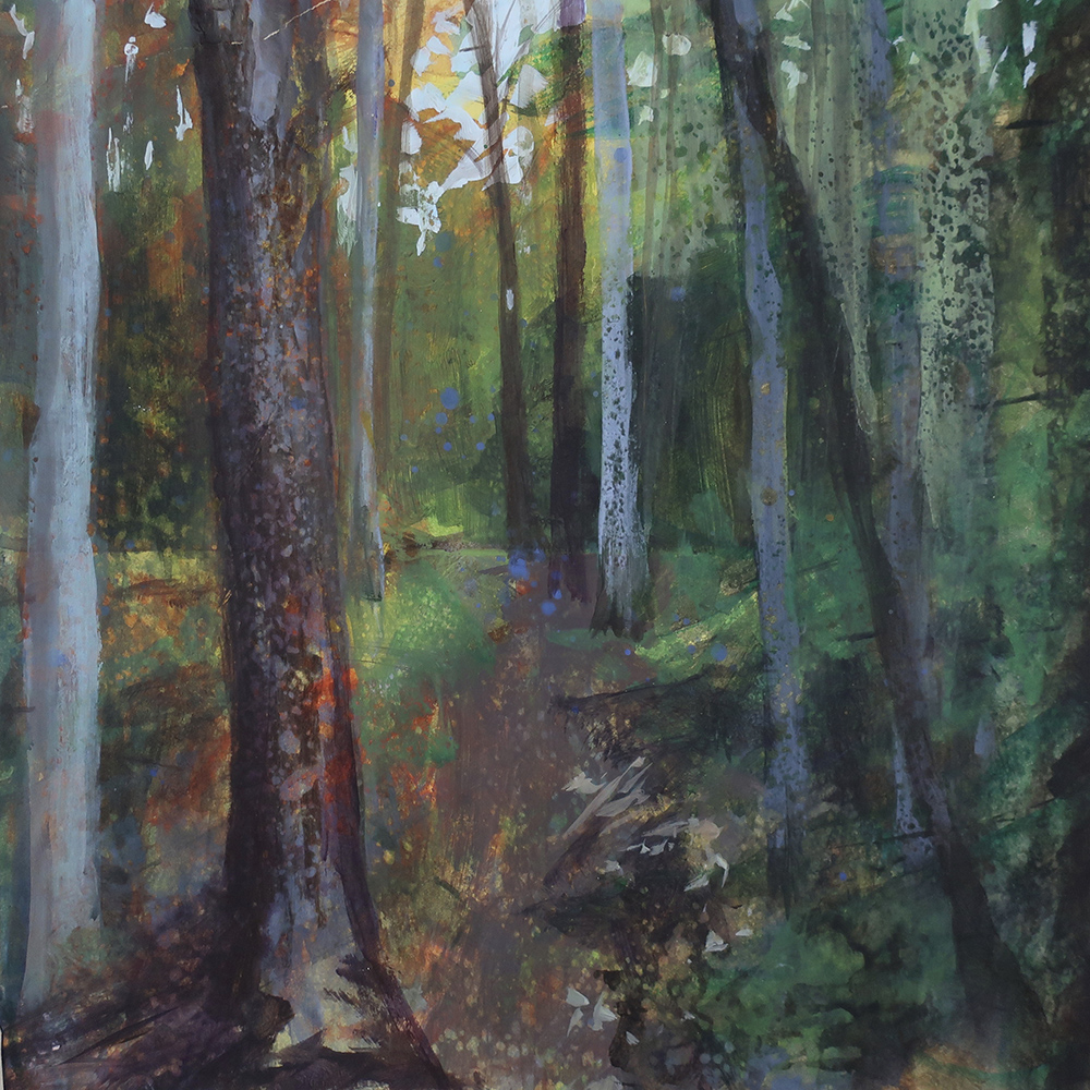 Painting of Vermont's Long Trail by artist Dawn Chandler
