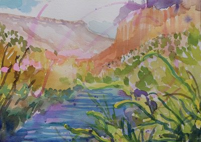 Watercolor Wandering painting 2020 49 by New Mexico artist Dawn Chandler