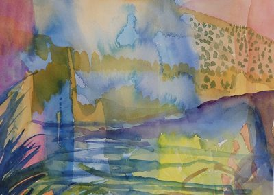 Watercolor Wandering painting 2020 51 by New Mexico artist Dawn Chandler