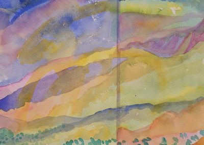 Watercolor Wandering painting 2020 52 by New Mexico artist Dawn Chandler