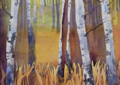 Watercolor Wandering painting 2020 53 by New Mexico artist Dawn Chandler