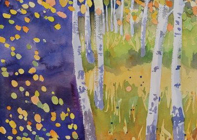 Watercolor Wandering painting 2020 54 by New Mexico artist Dawn Chandler