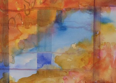 Watercolor Wandering painting 2020 55 by New Mexico artist Dawn Chandler