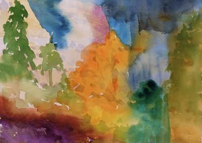 Watercolor Wandering painting 2020 59 by New Mexico artist Dawn Chandler