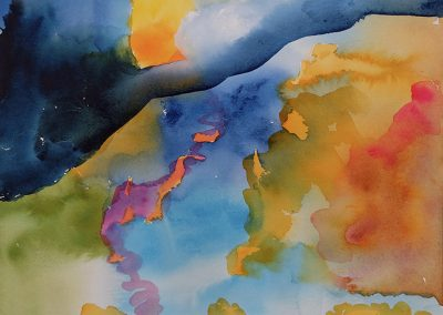 Watercolor Wandering painting 2020 60 by New Mexico artist Dawn Chandler