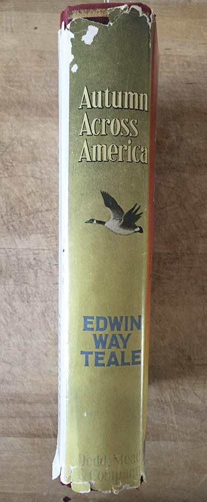 Binding of the 1956 edition of Autumn Across America by Edwin Way Teale.